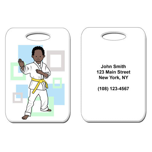 Martial Arts or Karate Kid Bag Tag - Boy