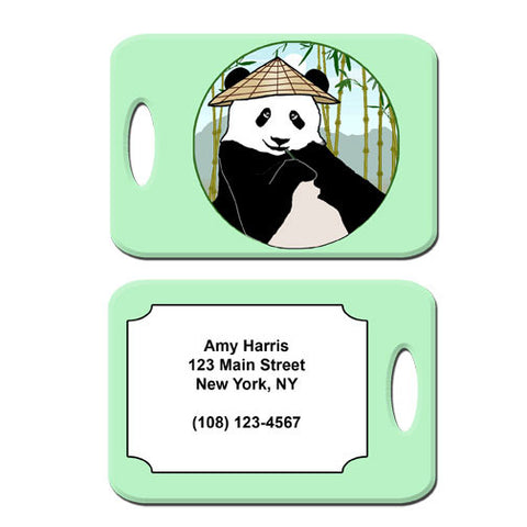 Panda with Cone Hat Bag Tag