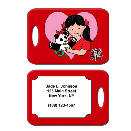 Panda Girl Adoption Bag Tag