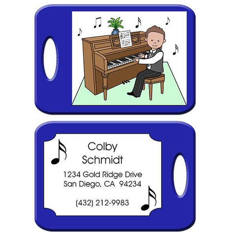 Piano Recital Boy Bag Tag