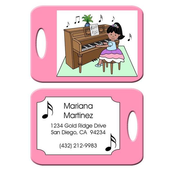 Piano Recital Girl Bag Tag