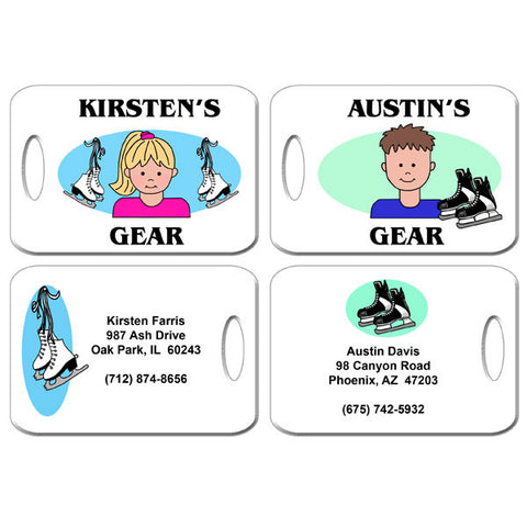 Ice Skating Kid Bag Tag