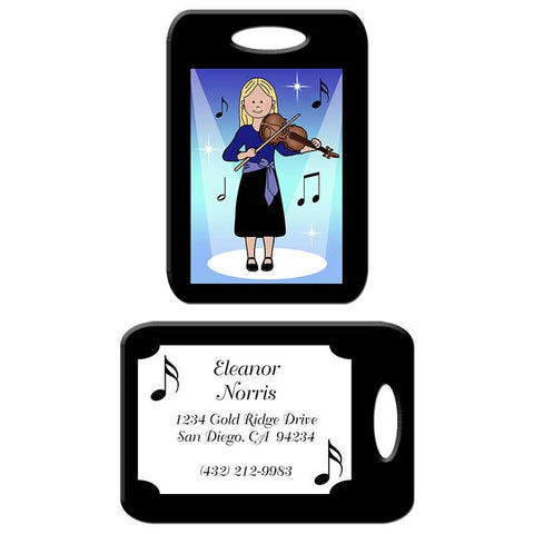Violin Recital Girl Bag Tag