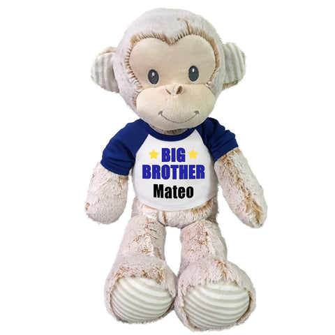 "Big Brother Monkey - Personalized 20"" Marlow Monkey"