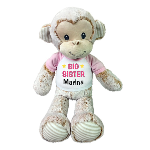 "Big Sister Monkey - Personalized 20"" Marlow Monkey"