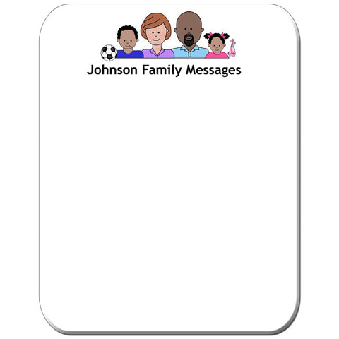 Cartoon Family Memo Board