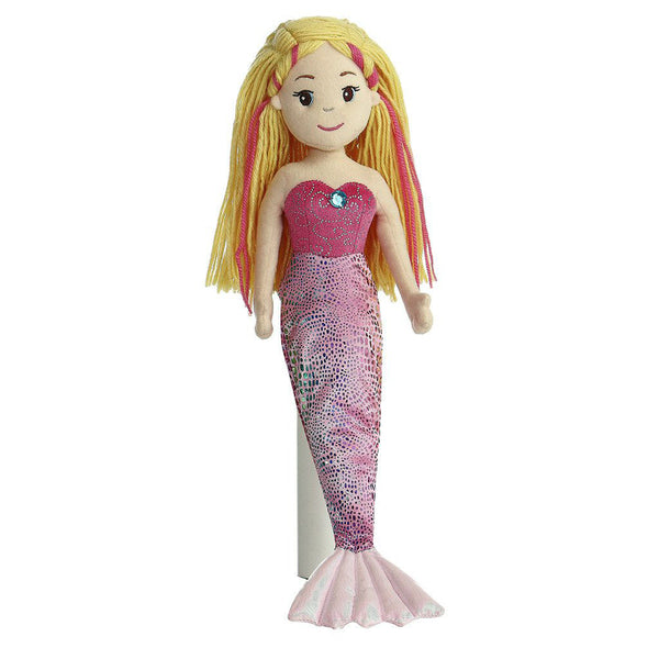 "Mermaid Doll - 18"" Marinna Aurora Plush Sea Sparkles"