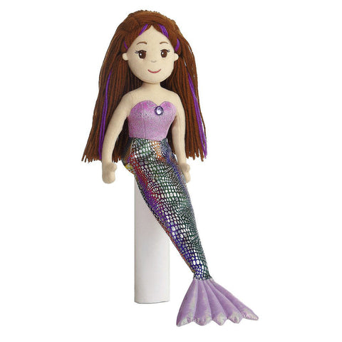 "Mermaid Doll - 18"" Merissa Aurora Plush Sea Sparkles"