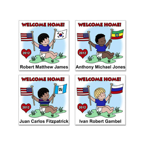 Flag Baby Adoption Magnet - Boy