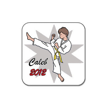 Karate or Martial Arts Boy Magnet - Kick Design