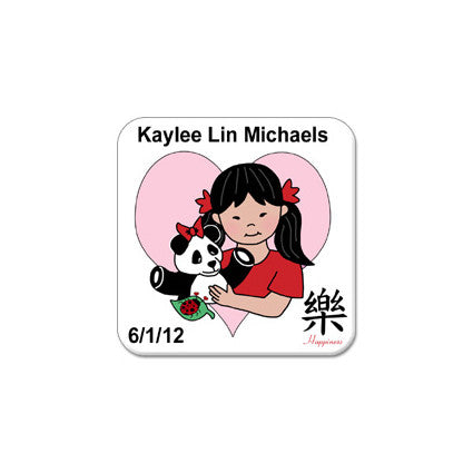 Panda Girl Adoption Magnet