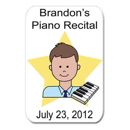 Piano Recital Magnet - Boy