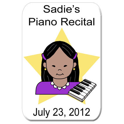Piano Recital Magnet - Girl