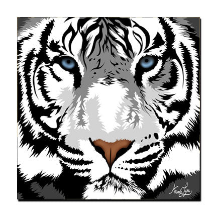 "White Tiger Magnet - ""Harimau"" the White Tiger"