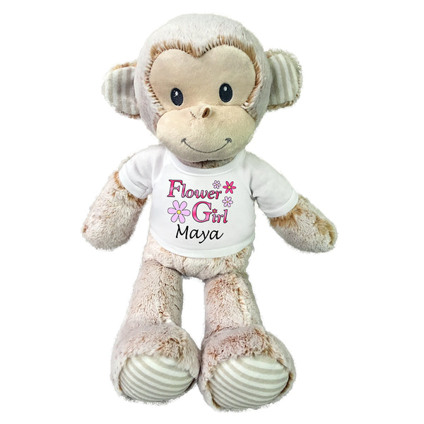 "Flower Girl Monkey -  Personalized 20"" Marlow Monkey"