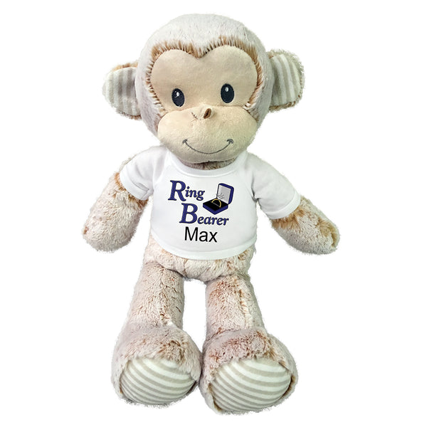 "Ring Bearer Monkey -  Personalized 20"" Marlow Monkey"