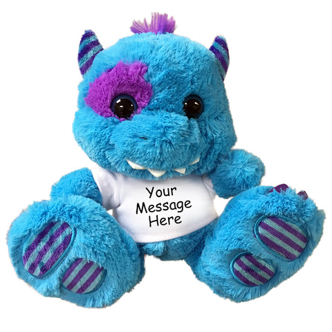"Personalized Stuffed Monster - 10"" Aurora Plush Blue Monster"