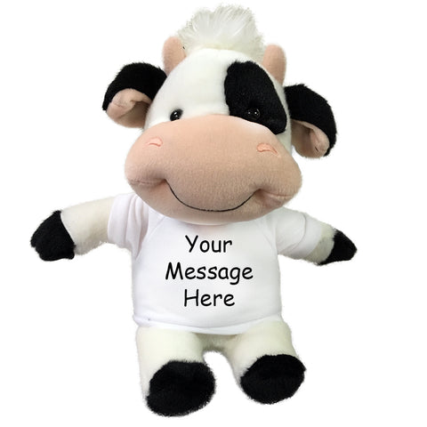 "Personalized Stuffed Cow- 10"" small ""Mooty"" Cow"