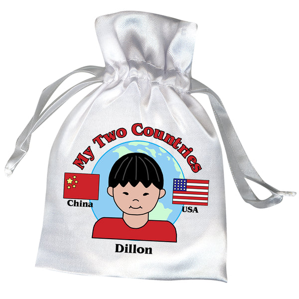 My Two Countries Adoption Party Favor Bag - Boy