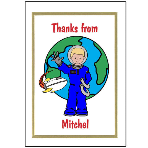 Outer Space Thank You Note Cards