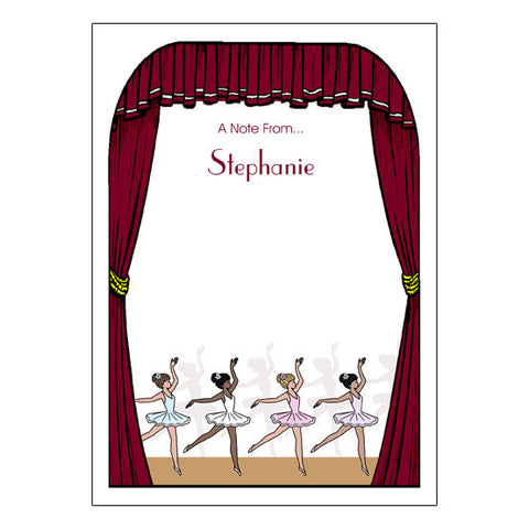 Center Stage Ballet or Dance Recital Thank You Note Cards