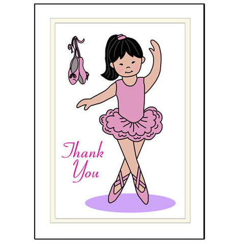 Ballerina Thank You Note Cards