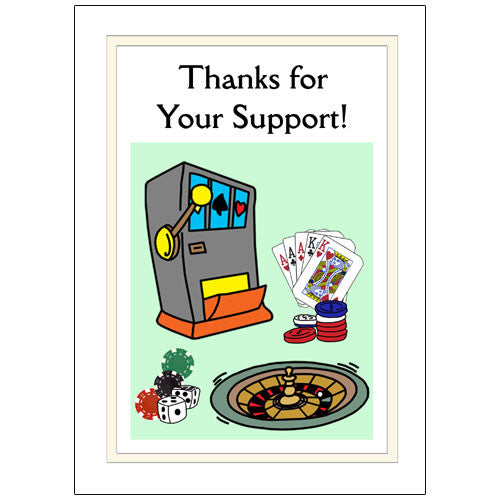 Casino Party Thank You Note Cards