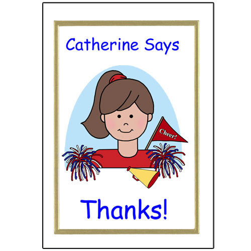 Cheerleading Kid Thank You Note Cards