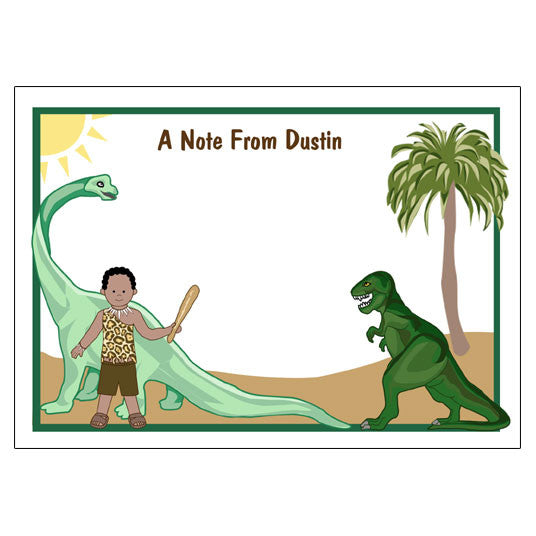Dinosaur Thank You Note Cards - Boy