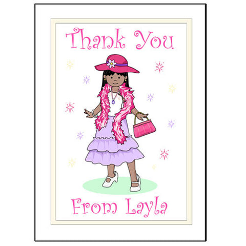 Dress Up Girl Party Thank You Note Cards