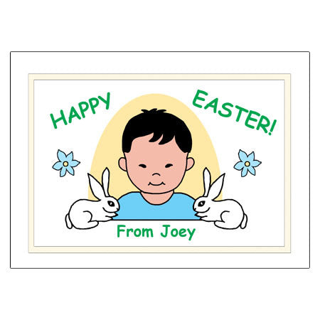 Kids Personalized Easter Cards - Boy
