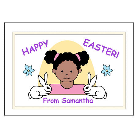 Kids Personalized Easter Cards - Girl