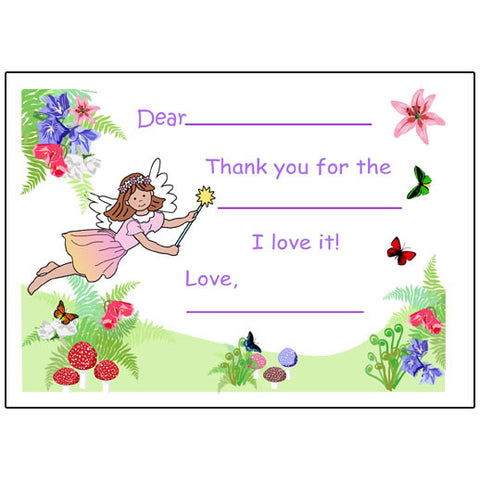 Fairy Fill in the Blank Thank You Notes