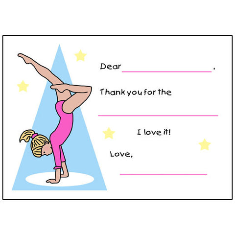 Gymnastics Fill in the Blank Thank You Notes - Handstand