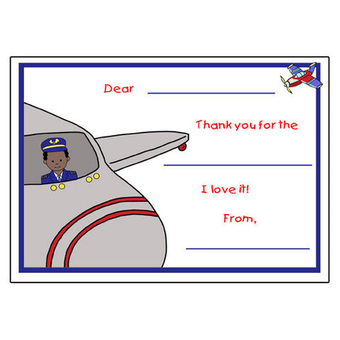 Airplane Pilot Fill in the Blank Thank You Notes