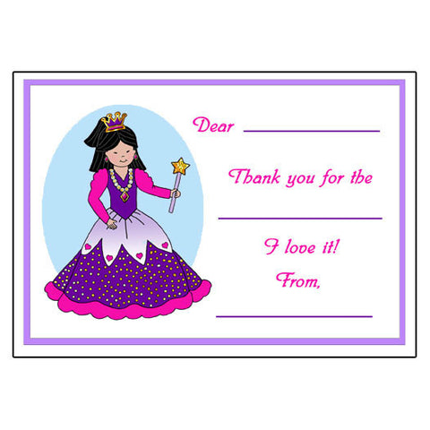 Princess Fill in the Blank Thank You Cards