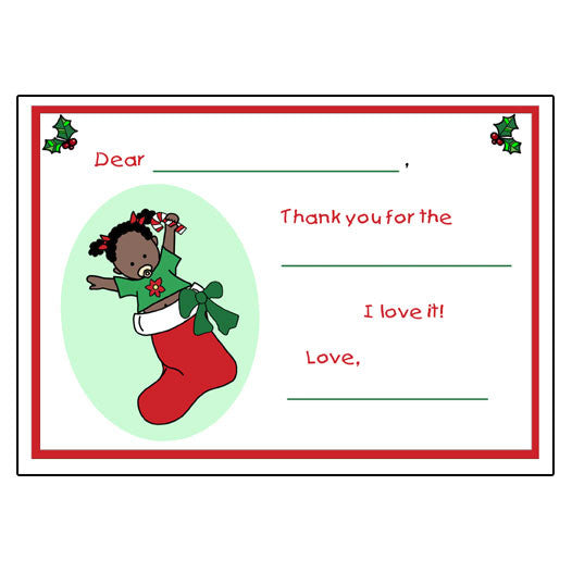 stocking baby christmas fill in the blank thank you notes girl 999