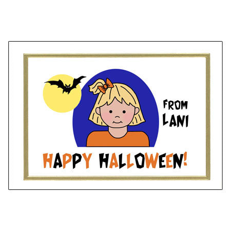 Kids Halloween Cards - Girl