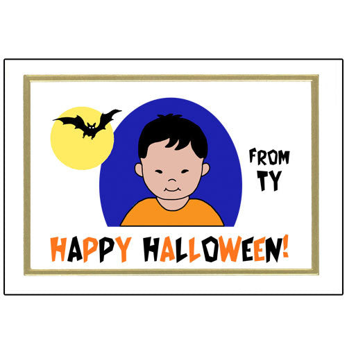 Kids Halloween Cards - Boy