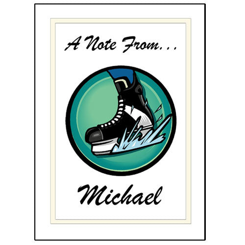 Hockey Skate Thank You Note Cards
