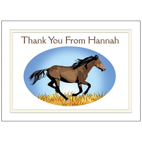 Wild Horse Thank You Note Cards