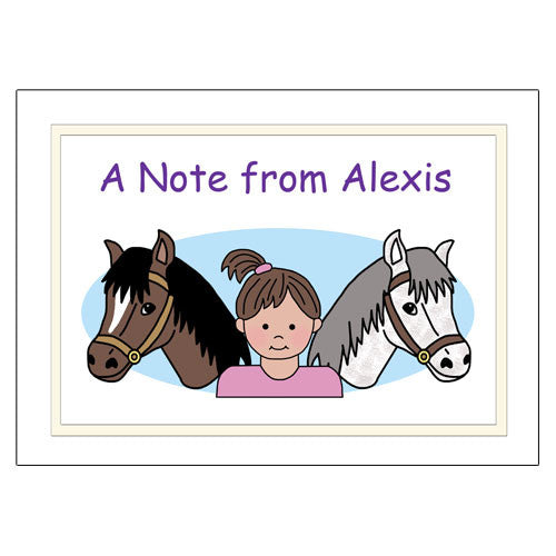 Horse Kid Note Cards - Girl
