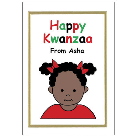 Kids Kwanzaa Cards - Girl
