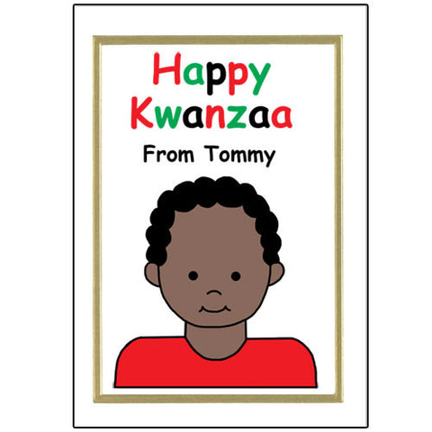 Kids Kwanzaa Cards - Boy