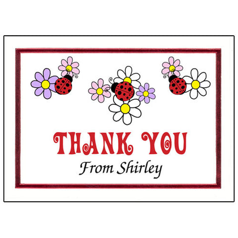 Ladybug Thank You Note Cards