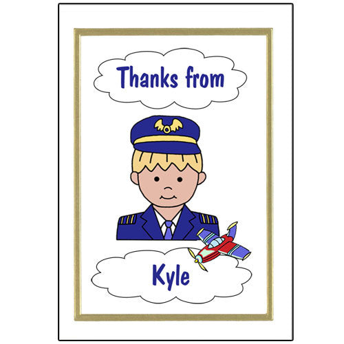 Airplane Pilot Thank You Note Cards