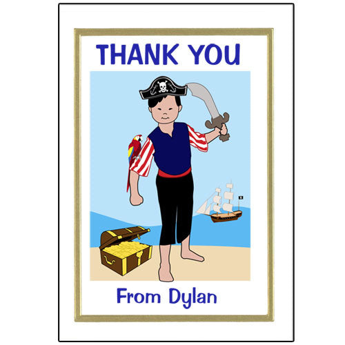 Pirate Thank You Note Cards