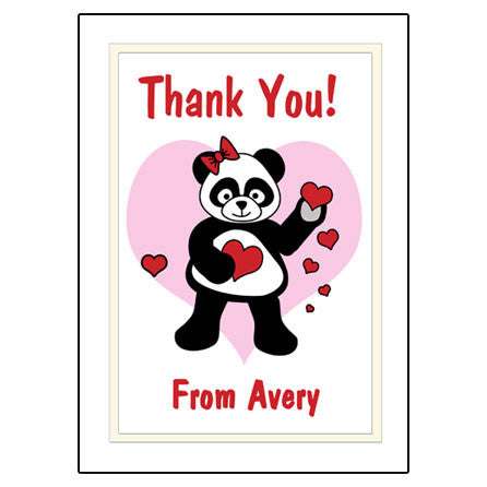 Love Panda Thank You Note Cards
