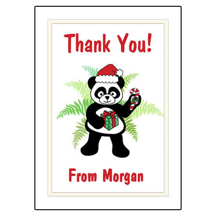 Santa Panda Thank You Note Cards