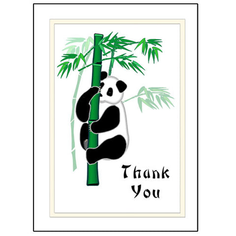 Panda Bamboo Thank You Note Cards